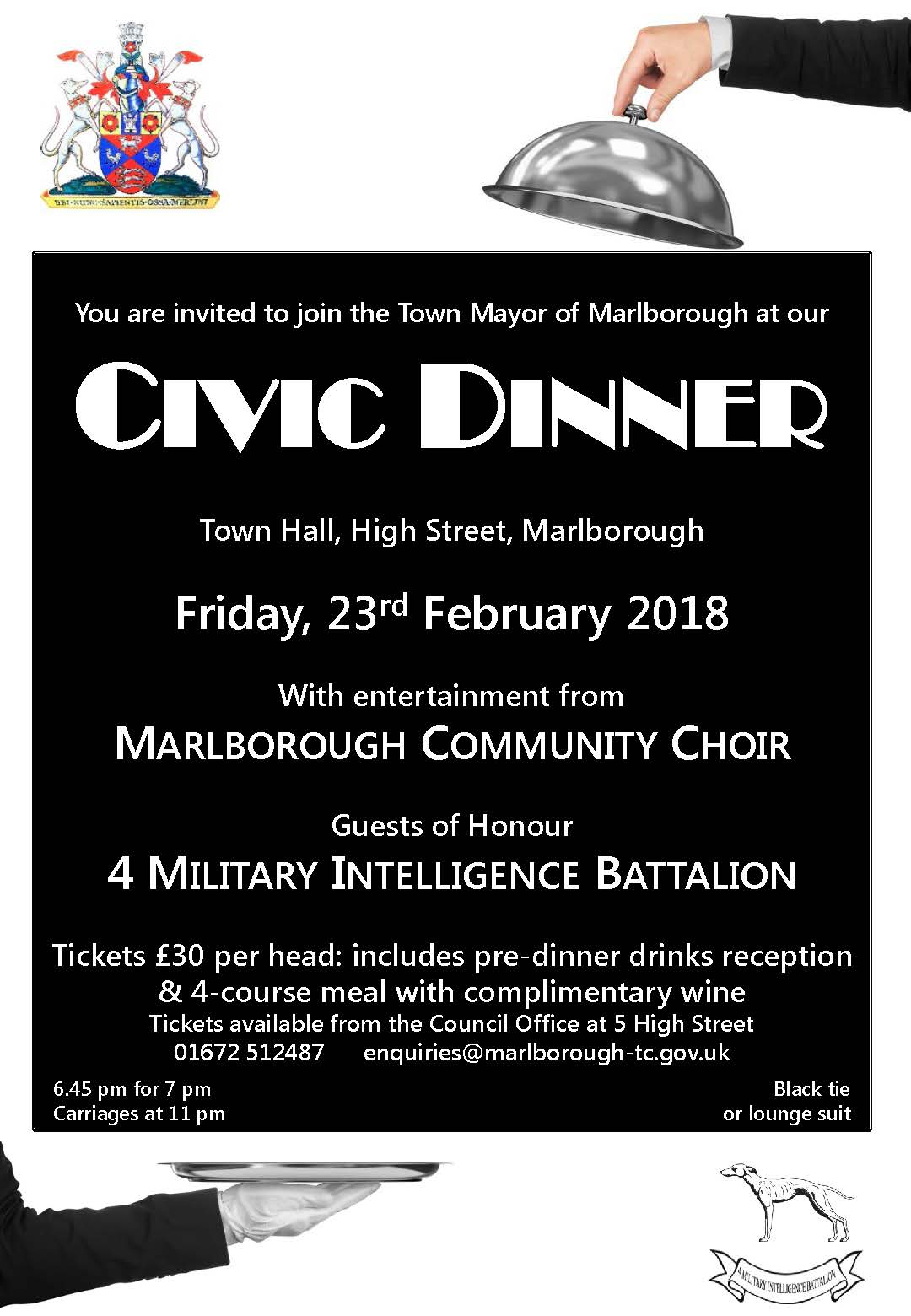 civic dinner 2018 poster black