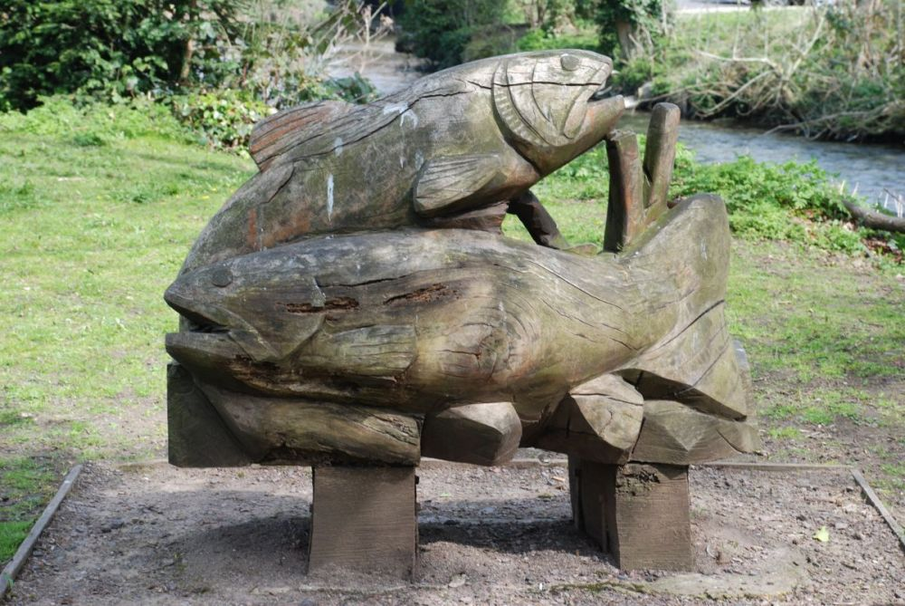 Priory-fish-sculpture