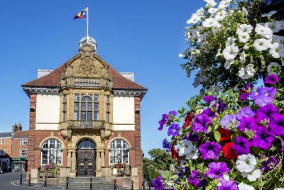 an image of the town hall which links to the main Council section of the website