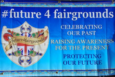 An image of a banner with the headling Future4Fairgrounds