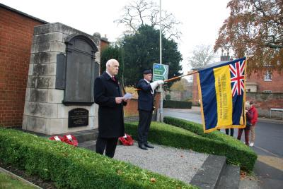 The RBL's Stewart Dobson reads the Kohima