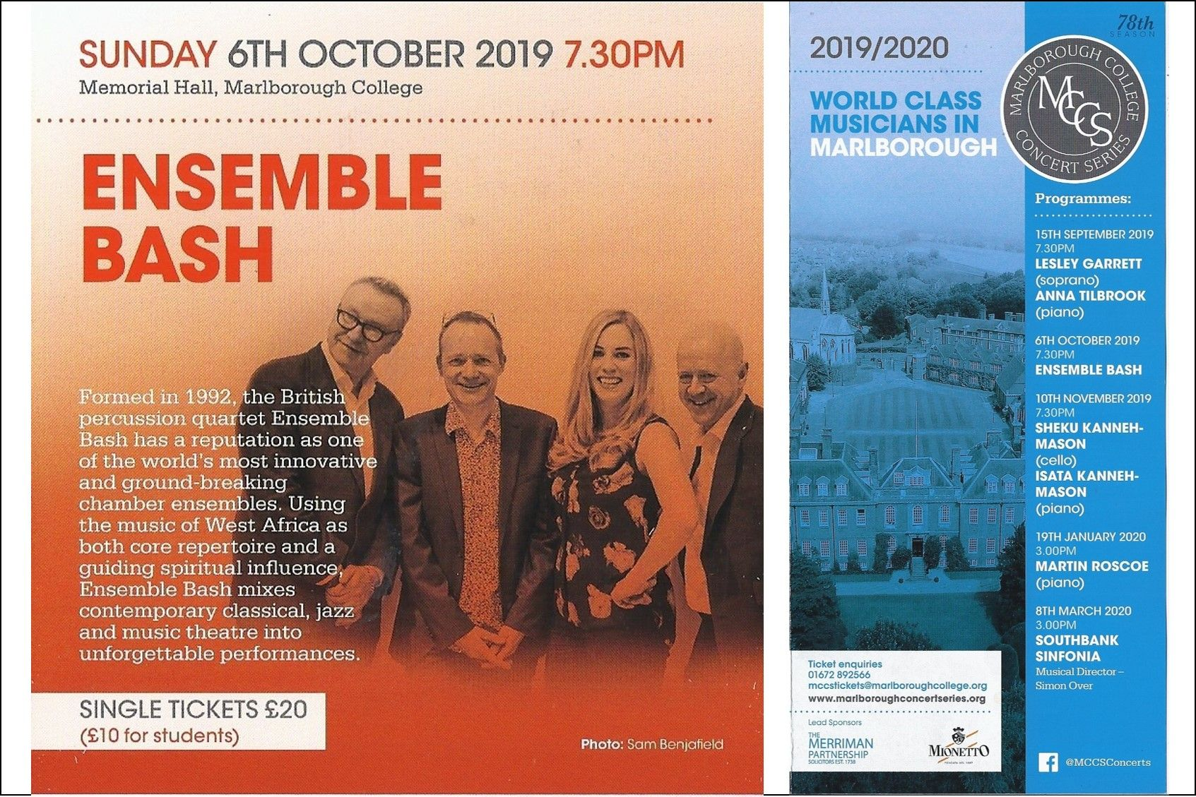 6 October - Ensemble Bash