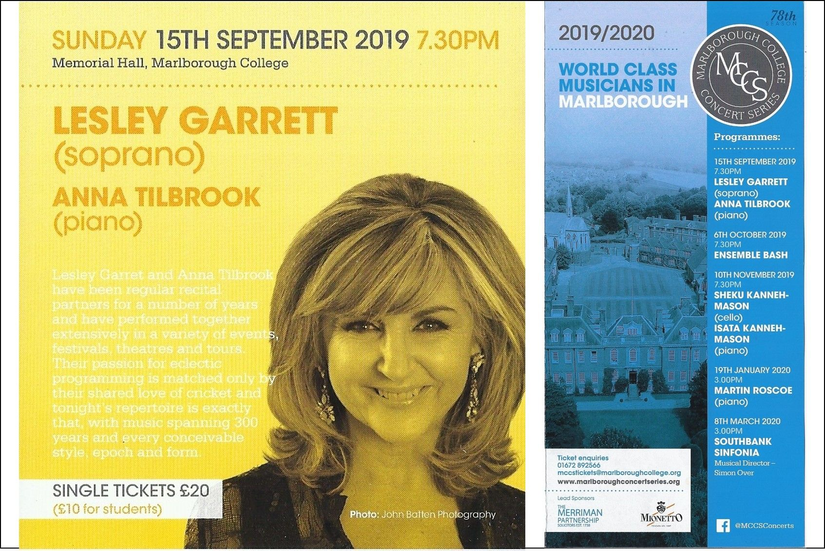 15 September - Lesley Garrett